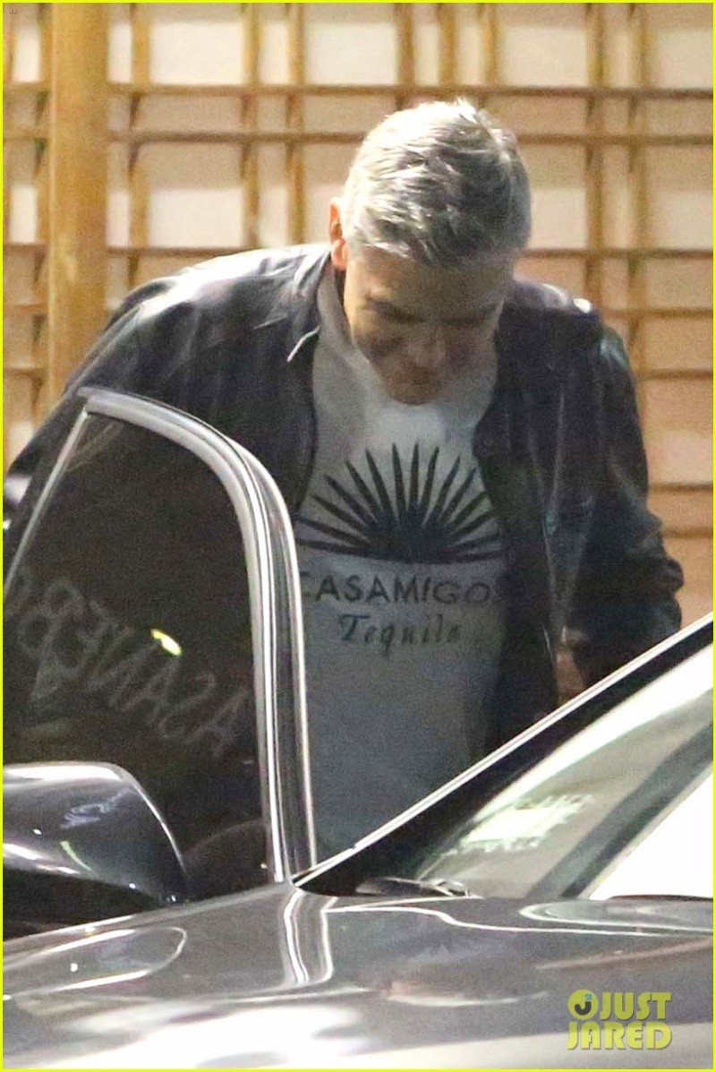 George Clooney Out To Dinner in LA Sunday Night  19 October 2014 G-eati12
