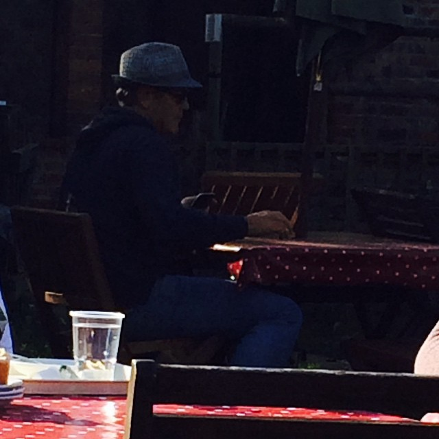 George Clooney Out And About In A Hat, 10-27-14 G-hat110