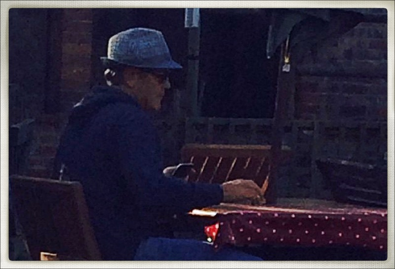 George Clooney Out And About In A Hat, 10-27-14 G-hat210
