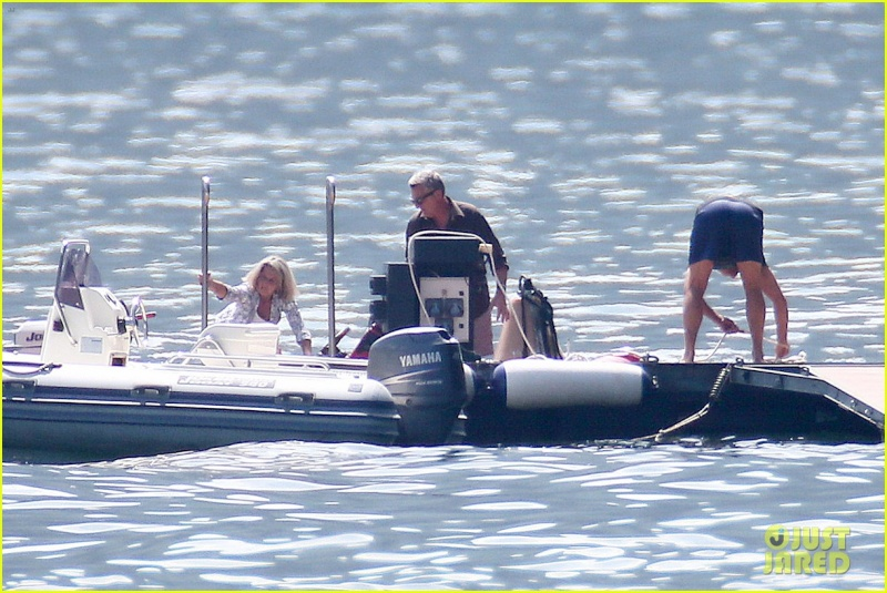 George Clooney on the Dock at Lake Como G-ital10