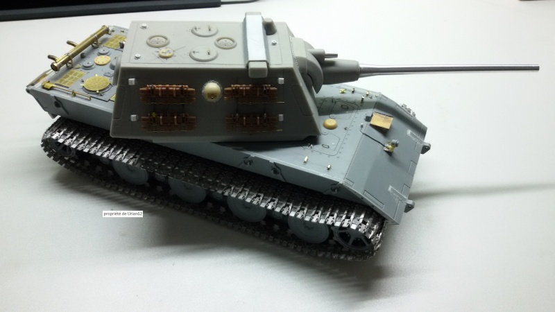 [Terminé] E-100 DRAGON 1/35 avec PE Voyager Model + tourelle KRUPP (par Rhino) + chenilles Friul 20140815