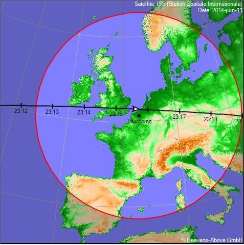 2014: le 11/06 à 23h35 - Lumière étrange dans le ciel  - Tourcoing - Nord (dép.59) Prtscr13