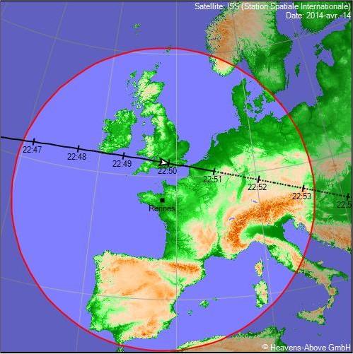 2014: le 14/04 à 22h50 - Lumière étrange dans le ciel  - Nord de Rennes - Ille et Vilaine (dép.35) Prtscr14
