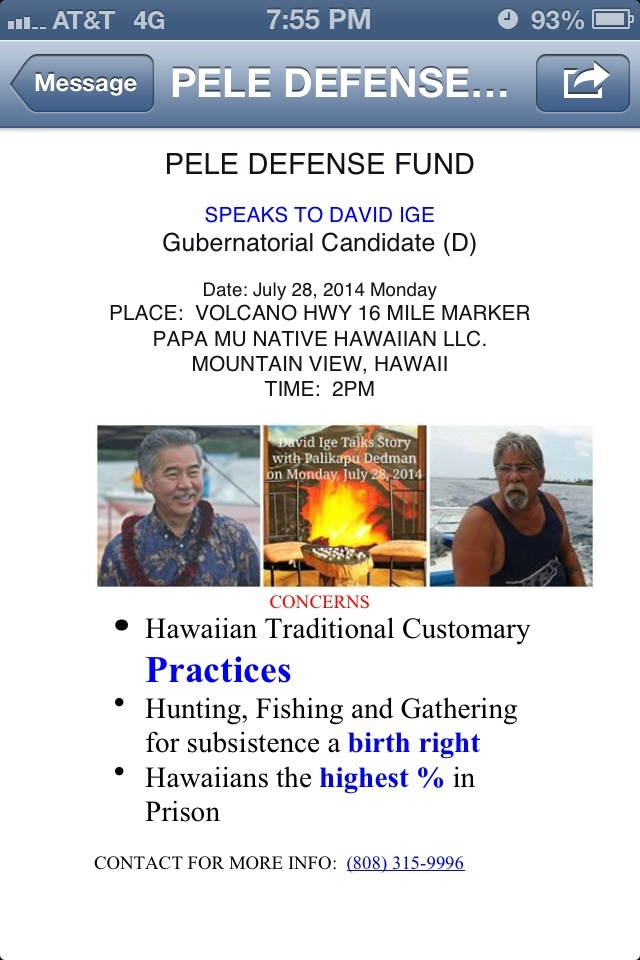 Talk Story / DAVID IGE and PELE DEFENSE FUND Photo10