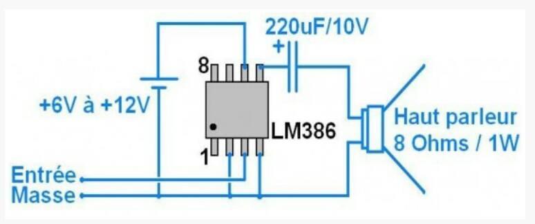 Amplificateur 1Watt Ampli110