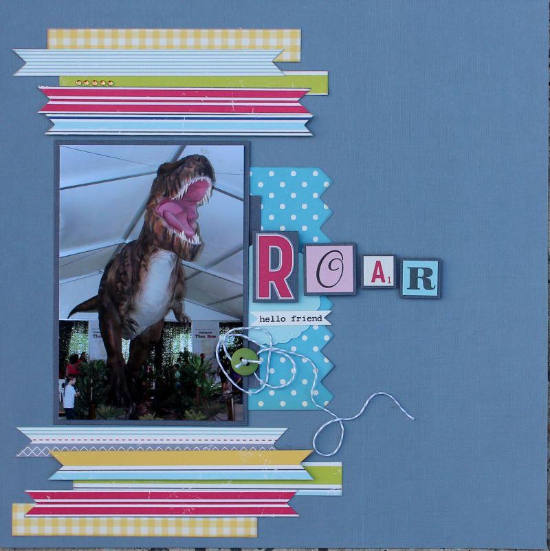 Patterned Paper challenge GALLERY Roar10