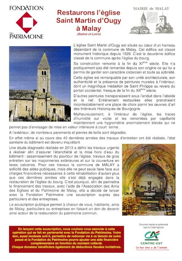 Restaurons l'église Saint-Martin d'OUGY Malay110