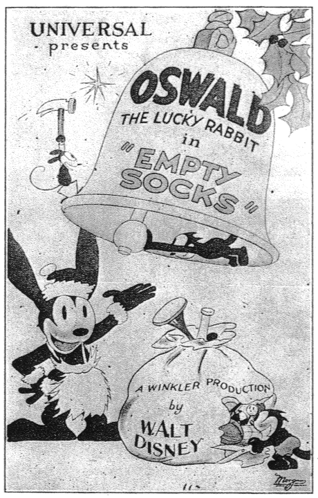 [Cartoon Walt Disney] Oswald le Lapin Chanceux : Empty Socks (1927) Oswald10