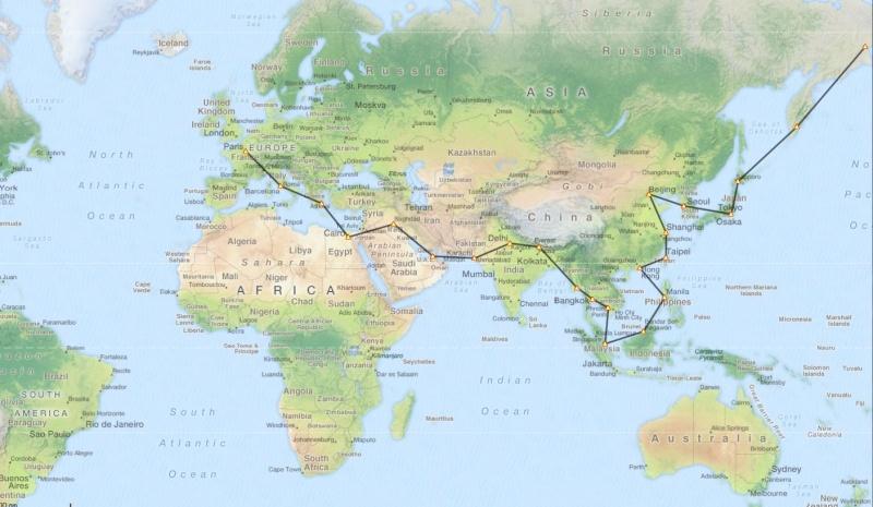 Tour du monde en liner Captur18