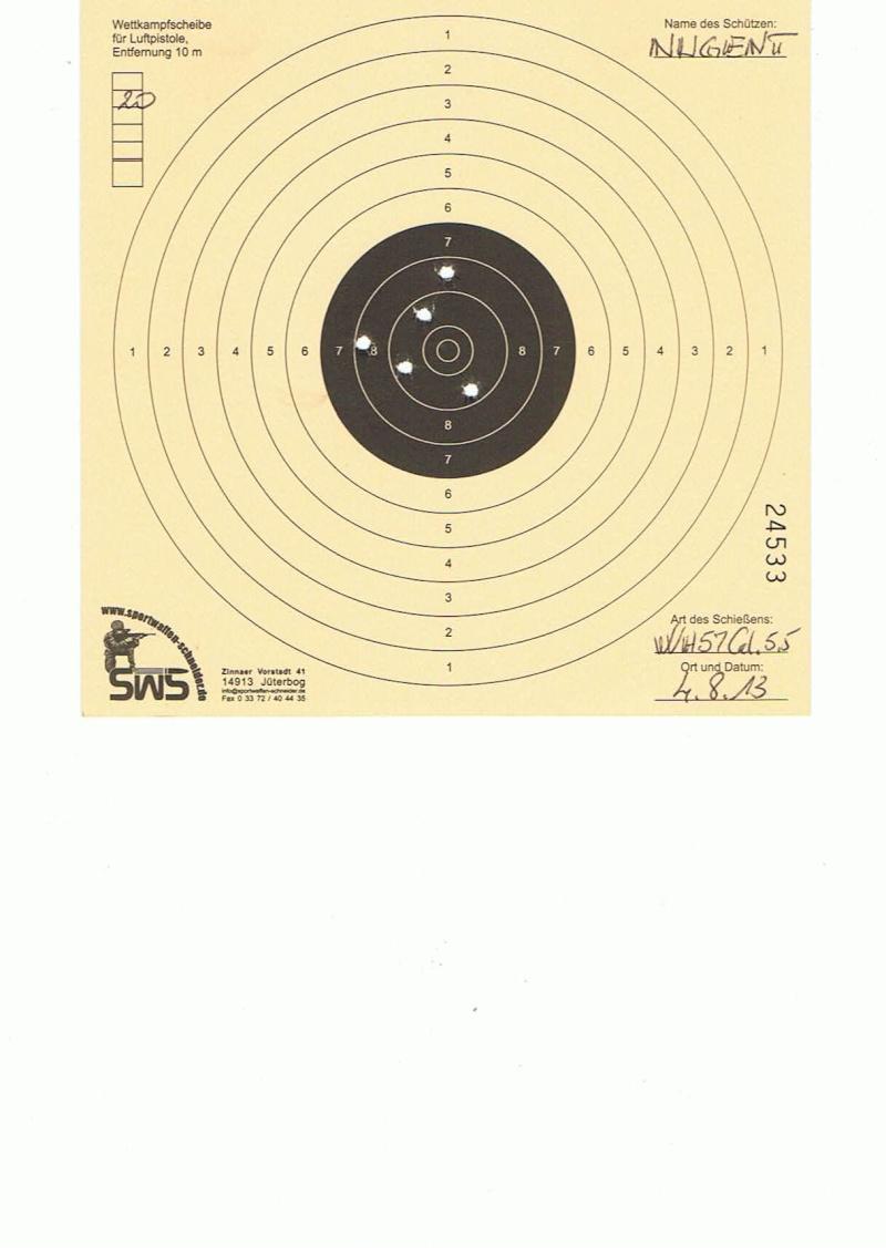 """Test Plombs H&N """"Field Target Trophy Green"""" sur HW 57 Cal.5,5  7,5 Joules   20m10"""