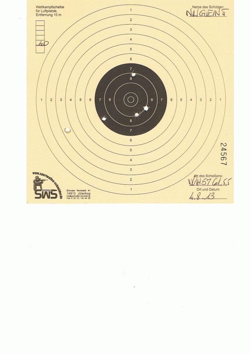 """Test Plombs H&N """"Field Target Trophy Green"""" sur HW 57 Cal.5,5  7,5 Joules   40m10"""