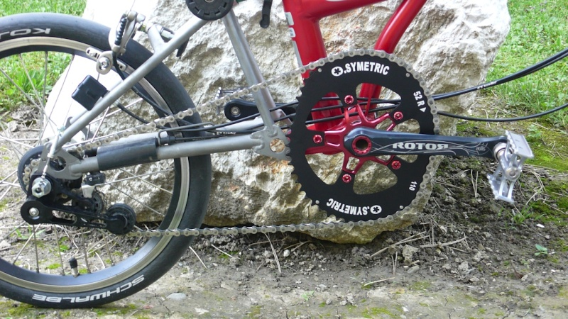 Plateau ovale Rotor Q-Ring sur mon brompton Osymet12