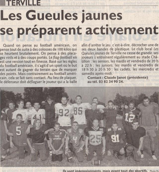Les Gueules Jaunes dans le journal Gj12