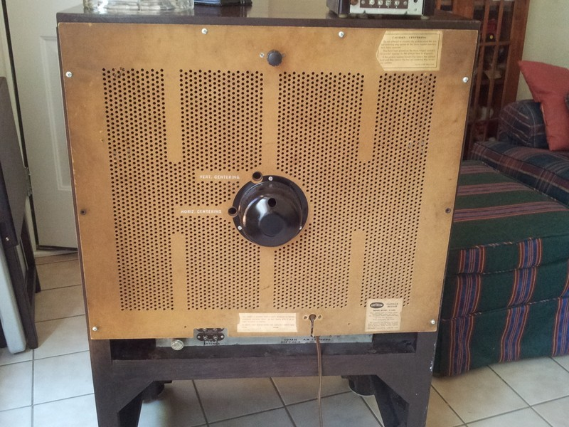 "Raytheon Model C-1602 16"" porthole tv Now with pictures! Back-811"