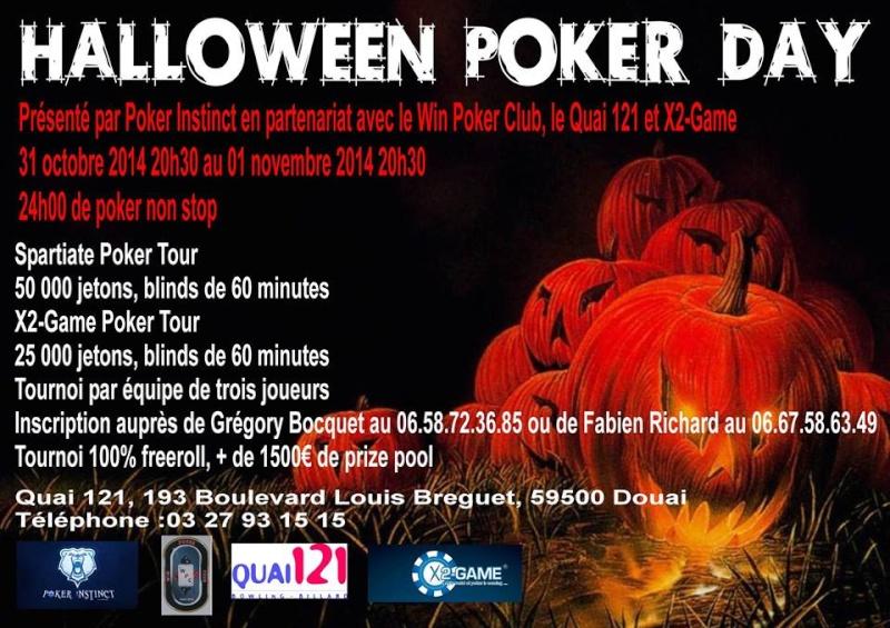 Halloween Poker Day (24h poker) - 31/10/2014 à Douai Hallow11