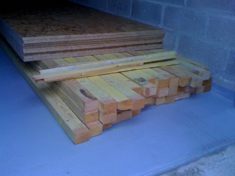 Pan sous-toit (madriers horizontaux) Bois10