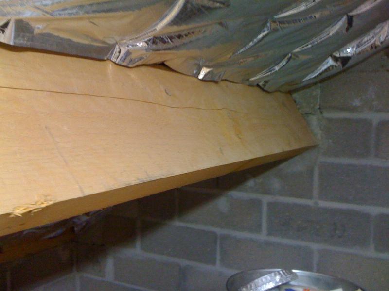 Pan sous-toit (madriers horizontaux) Poutre10