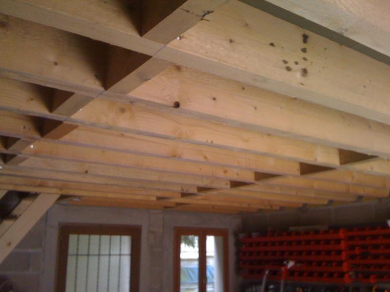 Pan sous-toit (madriers horizontaux) Solive10