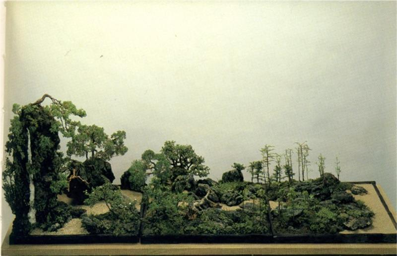 Tray landscape (giant saikei) Image110