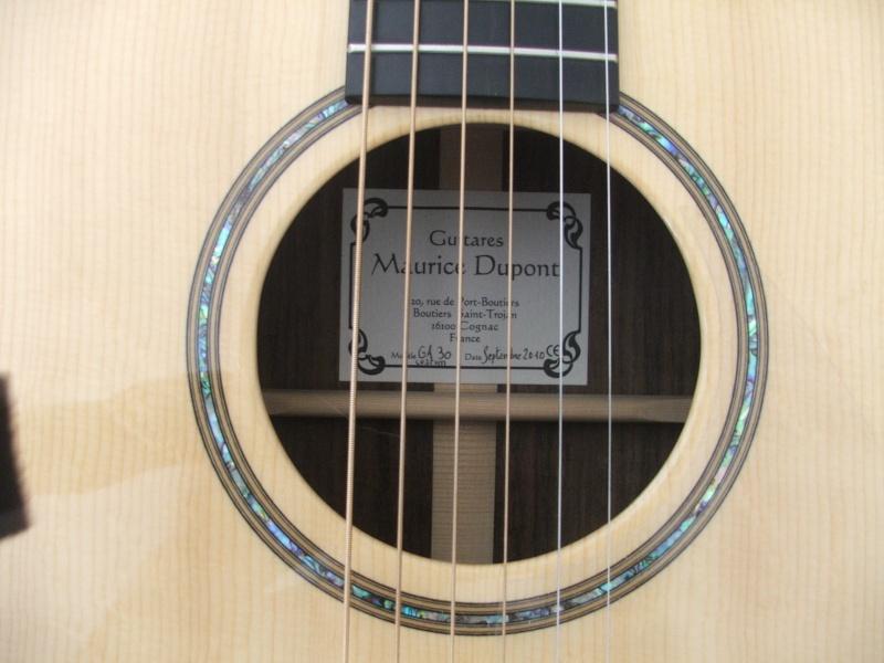 Guitare GA 30 PC Custom de Maurice DUPONT Dscf8713