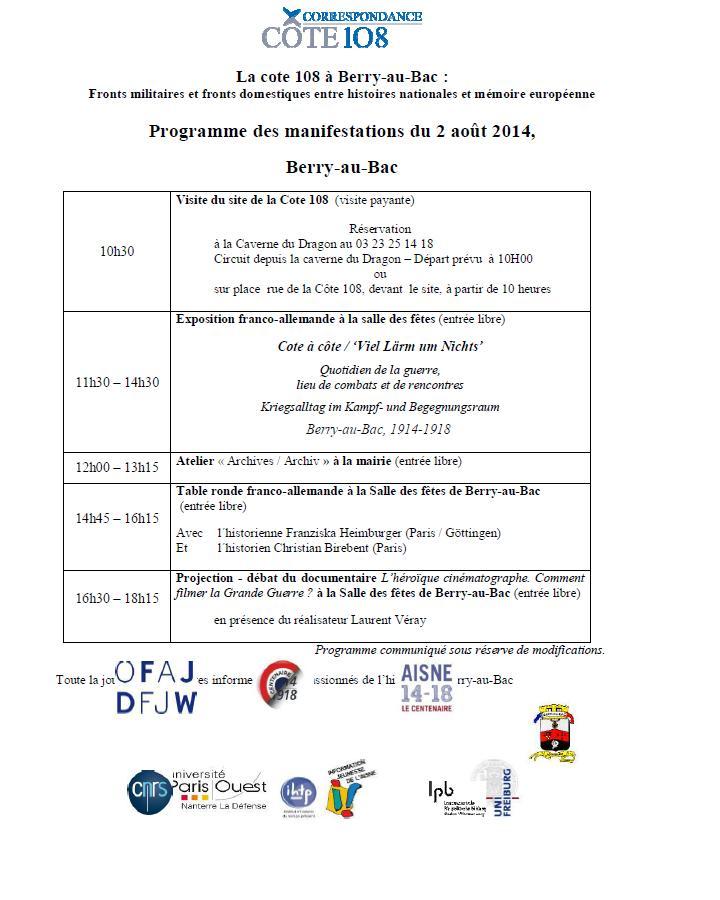 Berry au Bac, 2 aout 2014 Progra10