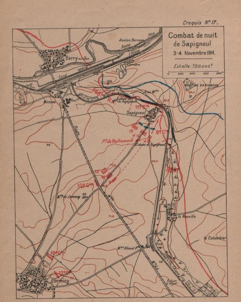 4 novembre 1914, un homme retrouvé entre les lignes Sapign10