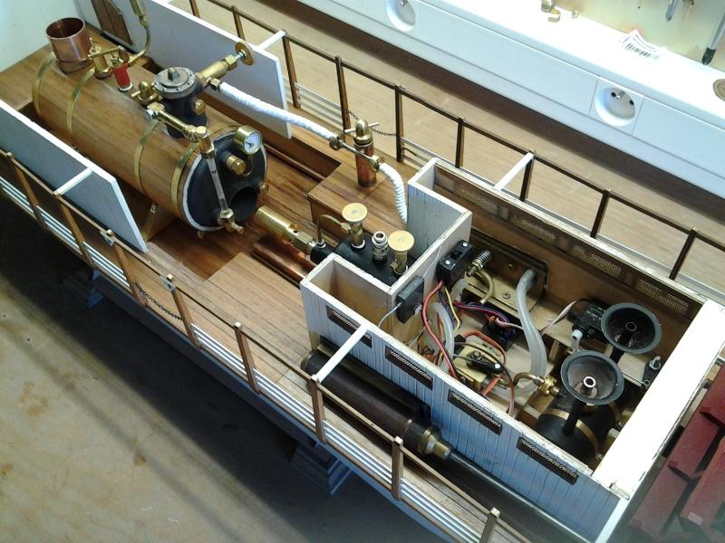 Construction d'un bateau à roue à aubes : le Mississippi 1870 2014-037
