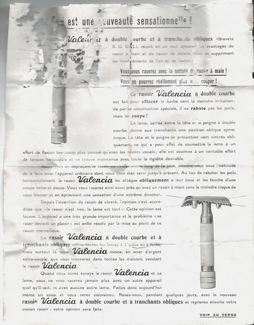 """VALENCIA ou les """"slant"""" à Peigne Ouvert Made in France... Notice10"""