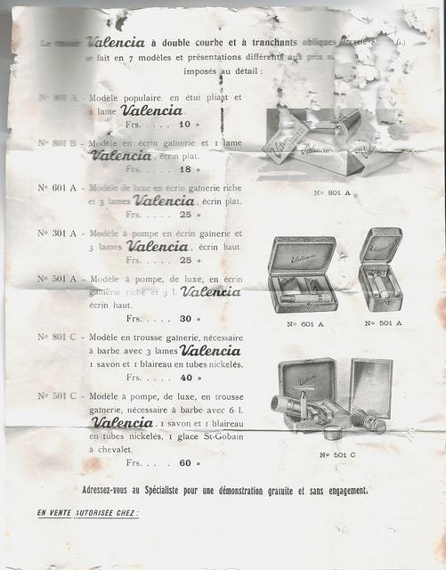 """VALENCIA ou les """"slant"""" à Peigne Ouvert Made in France... Notice11"""