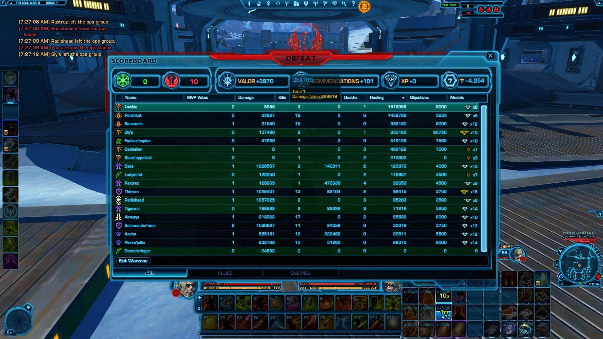 400k heal on my operative  Swtor_12