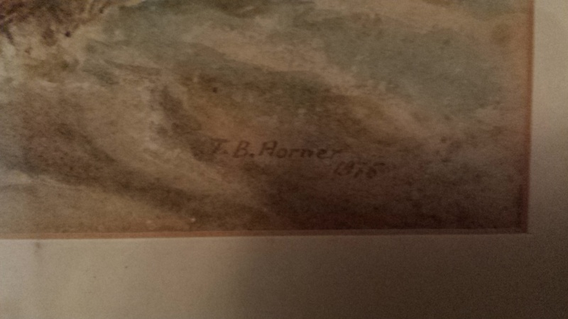 help with the price of water color painter T.B.HORNER 1875  20141011