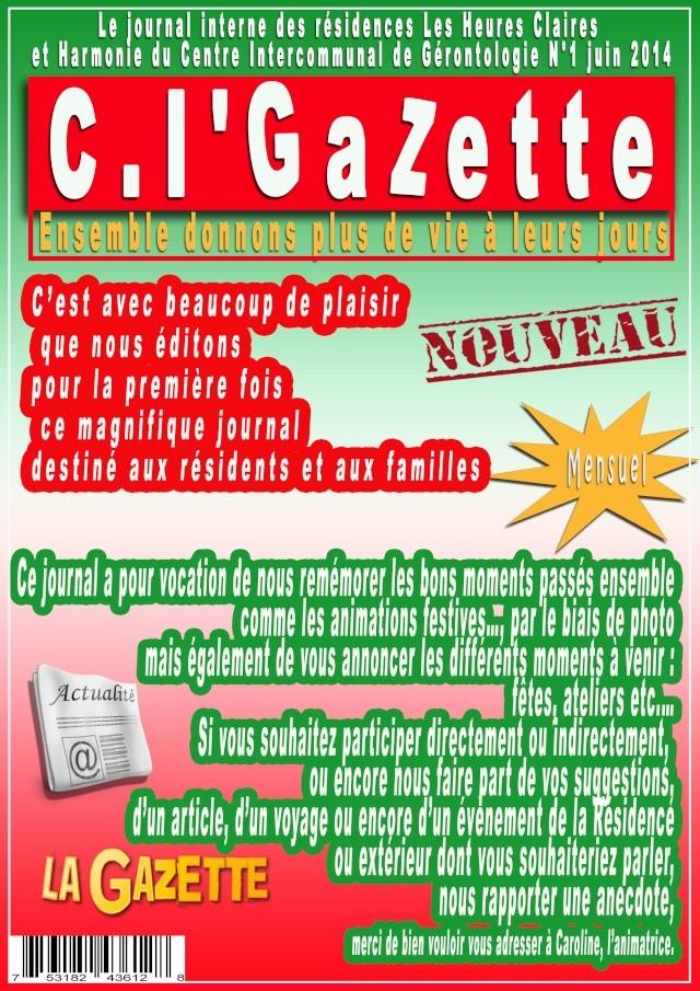 Modif concernant la police de la 1ere page du journal Gazett10