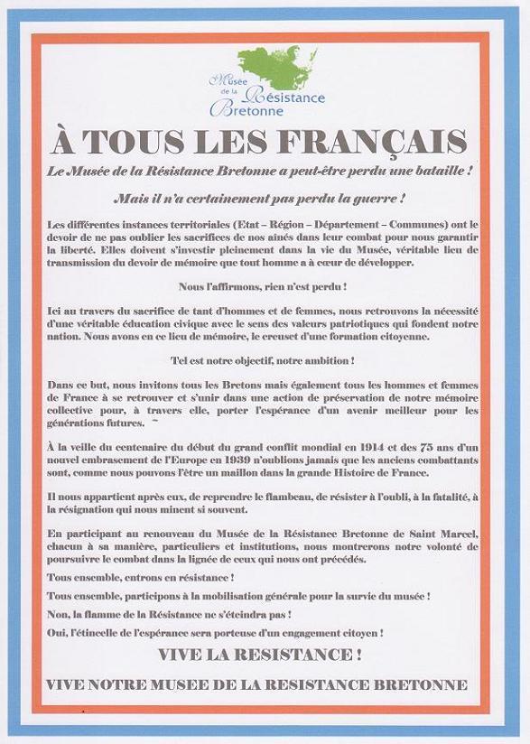 Non à la fermeture du Musée de la Résistance bretonne  Appel_12