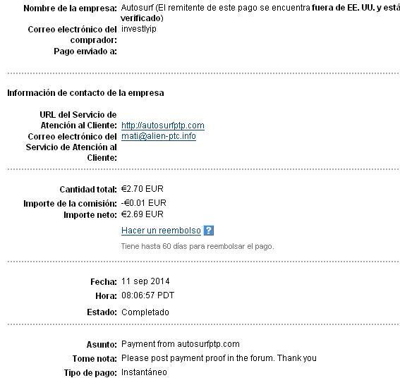 My 8vo payment !!! Autosu11