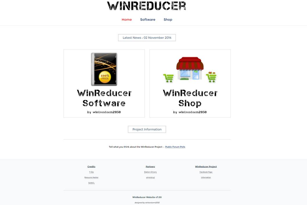 *OPENED* What do you think about the new WinReducer Website (v7.00) ? Websit11