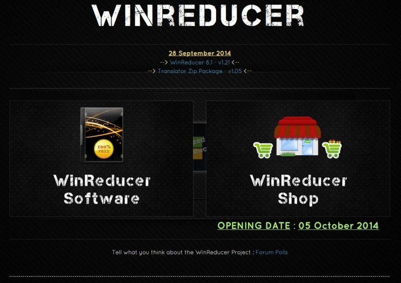 [CLOSED] What do you think about the new WinReducer Website (v5.00) ? Winred11