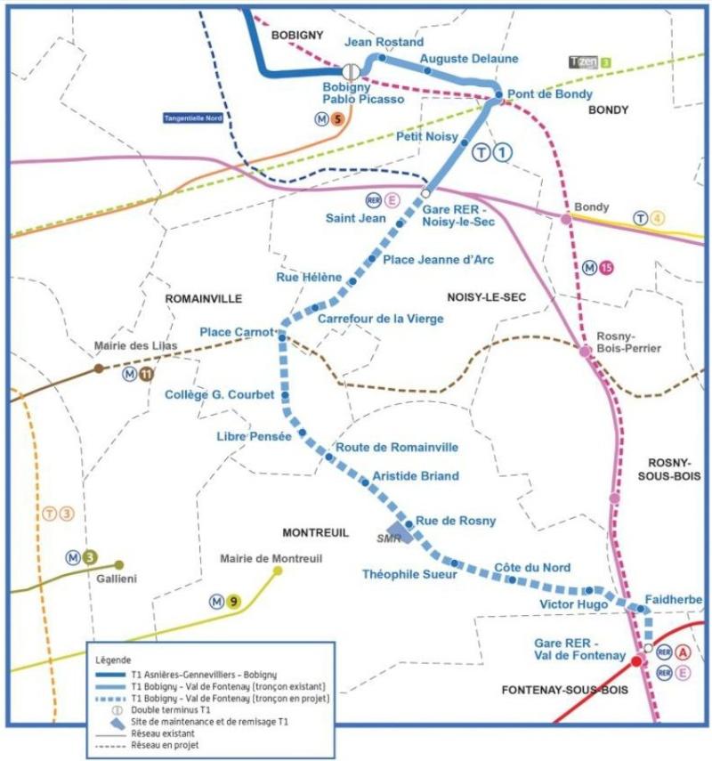 Tramway T1 - Prolongation de Noisy-le-Sec au Val de Fontenay Detail10