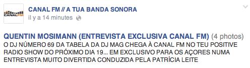 [19/07/2014 - 22h00] Canal FM Portugal - ITW  Captu106
