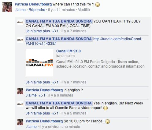 [19/07/2014 - 22h00] Canal FM Portugal - ITW  Captu107