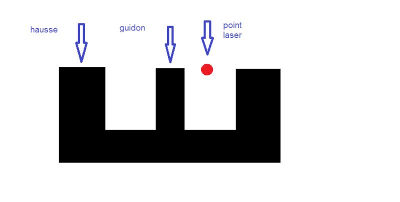 Laser bore sighter et guidon Saïga Hausse10
