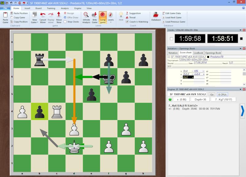 GM Hikaru Nakamura VS Chess Engine Stockfish 4081001 x64 for Haswell CPUs  2014-015