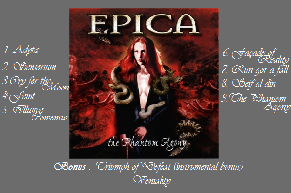Album n°1 : The Phantom Agony Epica_15