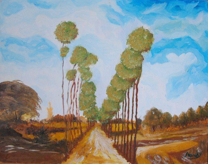Paysage à l'huile sur toile 1_210
