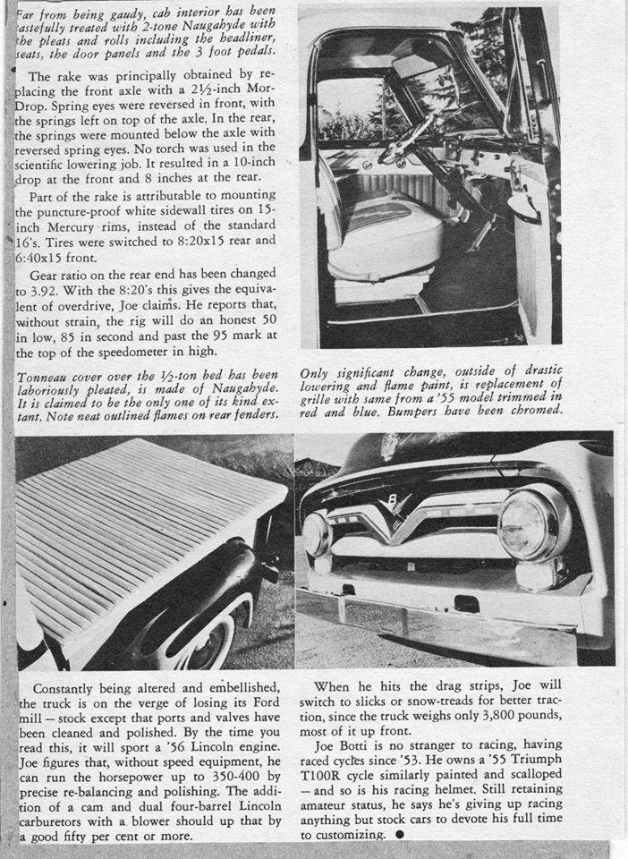 Ford Pick Up 1953 - 1956 custom & mild custom - Page 2 0434