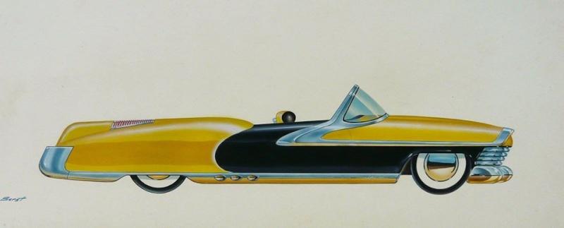 Vintage automotive design illustration. 10403415