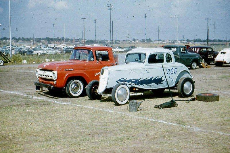 1950's & 1960's hot rod & dragster race 10557212