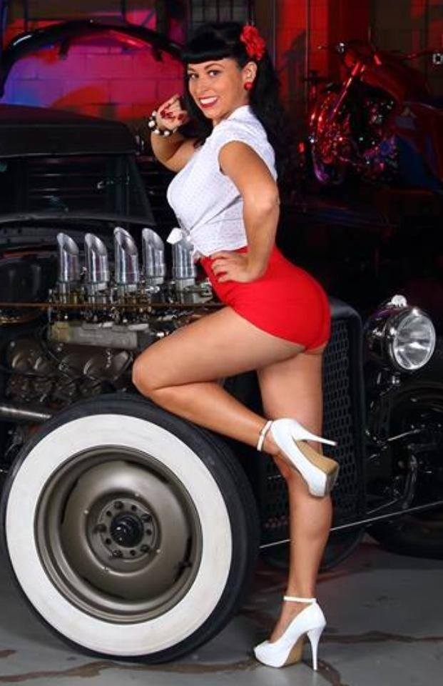 hot rod, custom and classic car babes - Page 6 10561615