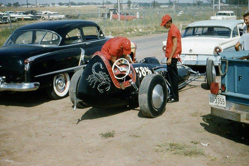 1950's & 1960's hot rod & dragster race 10612711