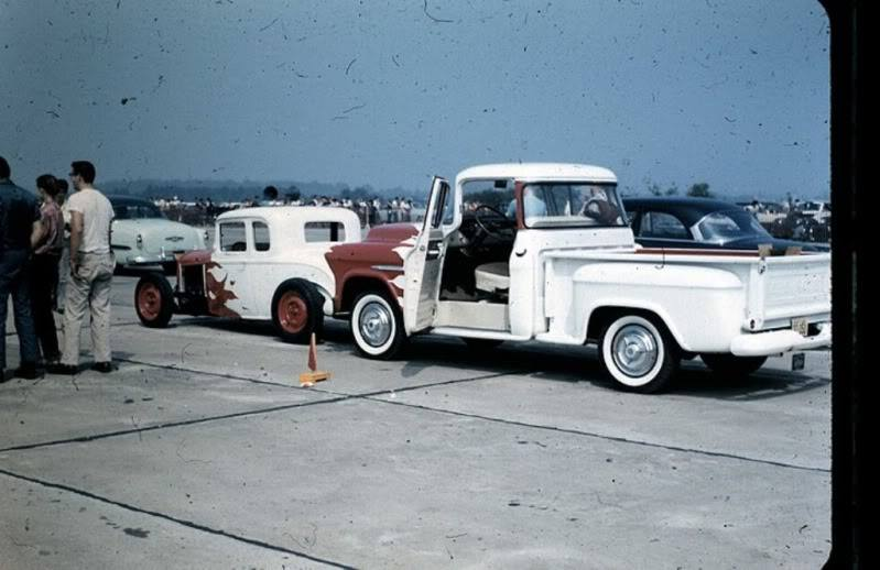 1950's & 1960's hot rod & dragster race 10671313