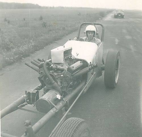 1950's & 1960's hot rod & dragster race 10675713